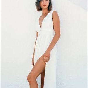 Lulu white maxi dress
